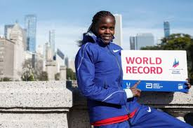 Kenya's ace Kosgei set a women's world record in Chicago