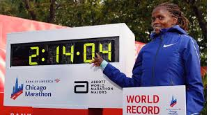 Chicago Marathon. Kenya Brigid Kosgei with a world record!